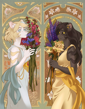 The Ladies with the Flowers by Obakawaii