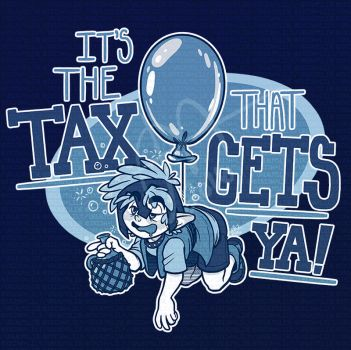 URealms Live T-shirt Design: The Tax That Gets Ya by Pandas-R-Us