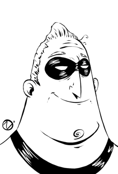 Mr. Incredible - lineart by Nekr0ns