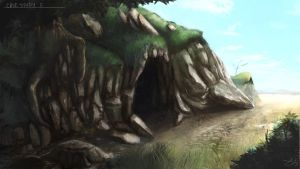 Cave Outside Concept by astray-engel