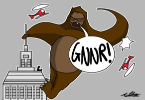 King Kong Cartoon by Adam-Clowery