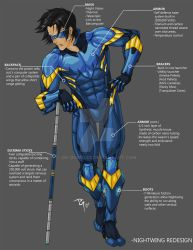 Nightwing Redesign by dg-doodles