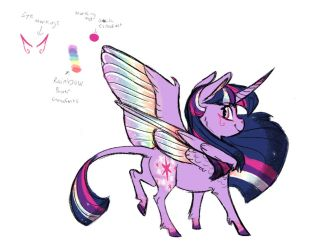 Headcanon- Rainbow Power Twilight Sparkle concept by Earthsong9405
