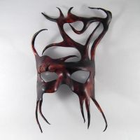 Woodland Tree Leather Mask by Shadows-Ink