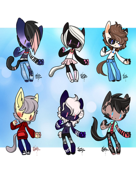 Smol Anthro Cats (3/6 Open) by Blast4rt
