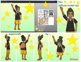 Hau (official model) papercraft (free download) by Antyyy