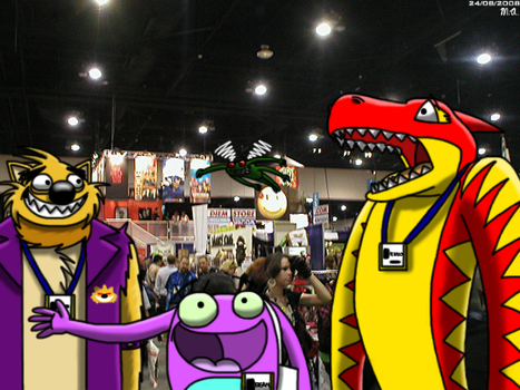 Monsters at Comic Con by BluebottleFlyer