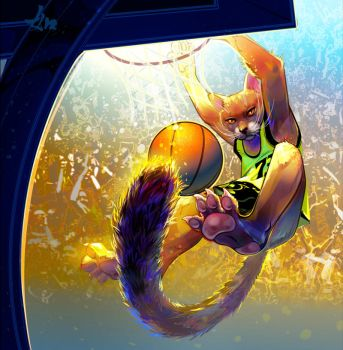 Basketball Cat by LimKis