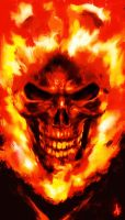 Ghost Rider Sketch by Atzinaghy