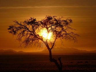 Sunset in Aus, Namibia, Africa by matthopesphotography