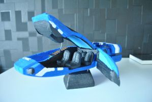 Mass effect C-Sec Hover Car Internal by darth667