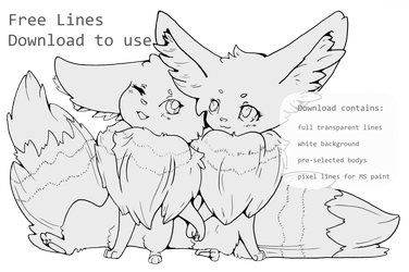 Free to use Eevee lines  lineart  base  template by FinsterlichArt