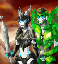 War TFP: Orion and Mazda by Orion-Cross