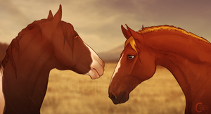 Breeding | Gold and Onyx by FeatherCandy
