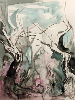 241- Ink Pour Forest by Lucky978