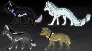 Canine Adopts - 2/4 open by Coranila