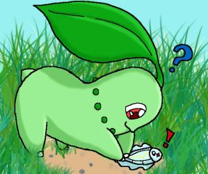 Chikorita and Tiny Tynamo by SweetLogic