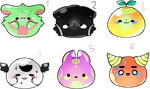 Blob Adopts #2    Adoptables    OPEN 1/6 by Lilystic