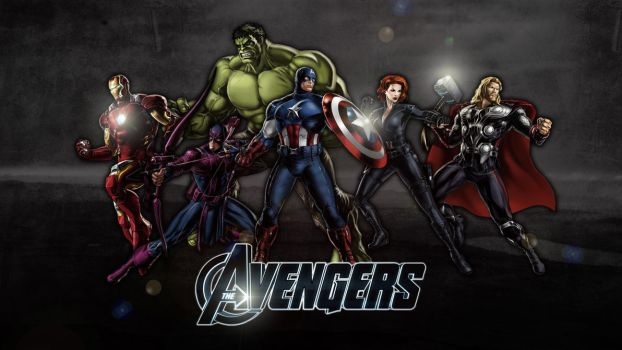 The Avengers: Modern   Wallpaper by Squiddytron