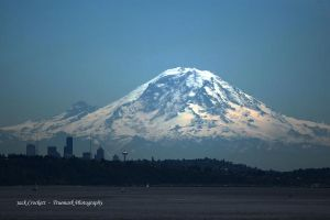 Volcano over Seattle by TruemarkPhotography