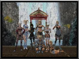 A family Photo in Guild Wars by Shadowcat1001