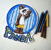 BLFC badge: Panda by pandapaco