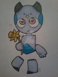 Po-Po the Martian (blue) by LilBanbozie