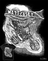 Matt Casey - Biker Shirt by nickv47