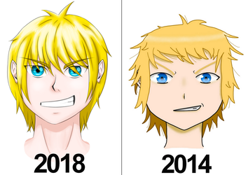 2014 Vs 2018 Drawing by DestroyerB3