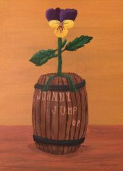 Johnny Jump Up Painting in Progress by Wolfsongamp
