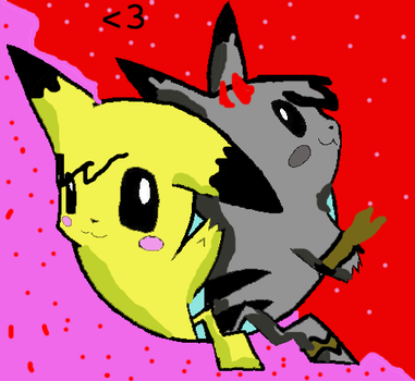 Evilchu and Piktchu again lol by hmueller
