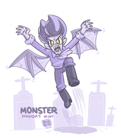 Monster Monday 001- Ugly Vampire by rickruizdana