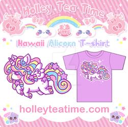 Kawaii Rainbow Alicorn T-shirt by miemie-chan3
