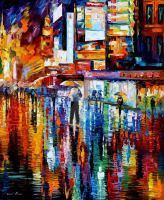 The Vibration Of Night by Leonid Afremov by Leonidafremov