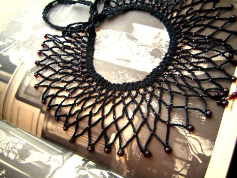 Lillith's Net Collar by AmiKamiHandknits