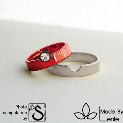 Pokeball style wedding ring by shadree