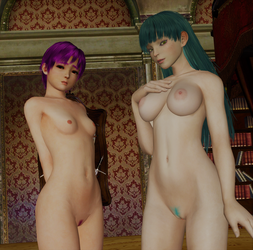 LILITH/MORRIGAN: 'He... seems nervous, sister...' by DarkOverlord1296
