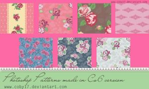 Vintage Flowers Photoshop Patterns by Coby17