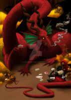Fight against the dragon by Lumoswold