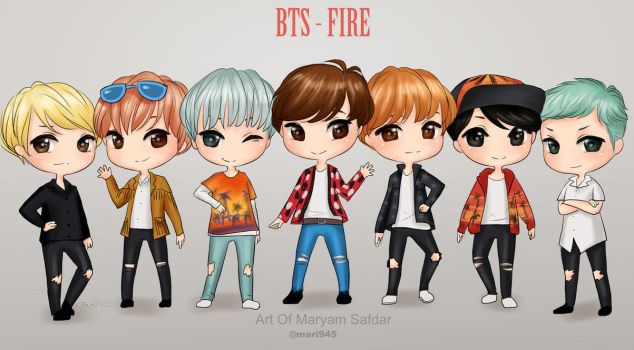 BTS - 'fire' by Mari945