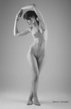 nude black and white by Arielle-Fox