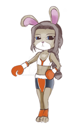Bunny Boxer - Carrie Nabs by AzaSket