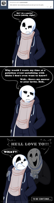 Undertale:: ParaverseTale:: Here's his answer by SpaceJacket