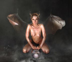 Magic Spell Carina as hell demoness succubus 2 by FueledbypartII