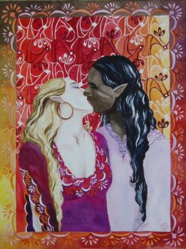 Kissing Elves by SuseDolAmroth