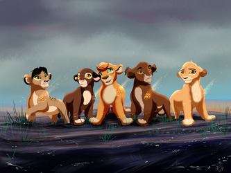 the new Lion Guard  by VishenkaArt