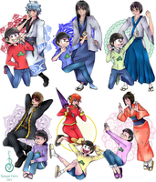 _Crossover_Gintama x Osomatsu-san by Senpai-Hero