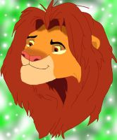 Adult Simba Colored by magikwolf