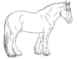 Shire free lineart by The-White-Cottage
