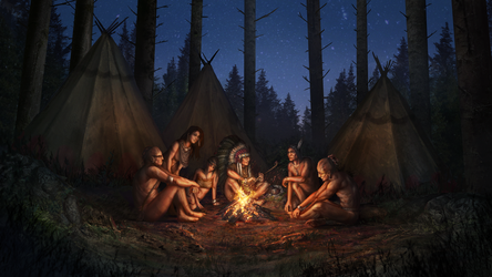 Bonfire in the forest by Tiodor